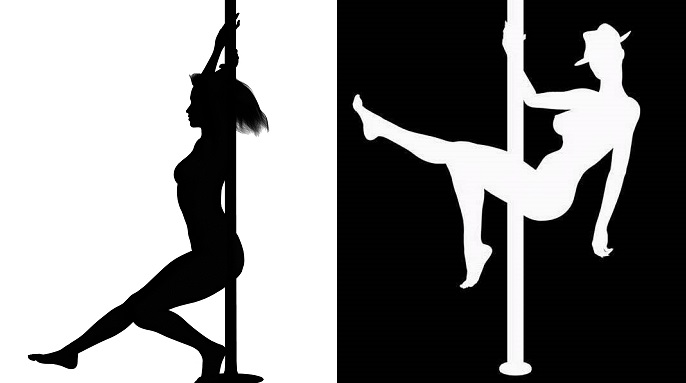 Black And White Stripper Silhouette Prints Are Quite Popular Online