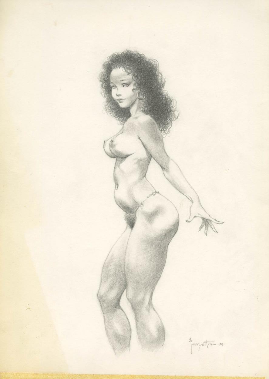 Pencil Drawing Of Nude Girl