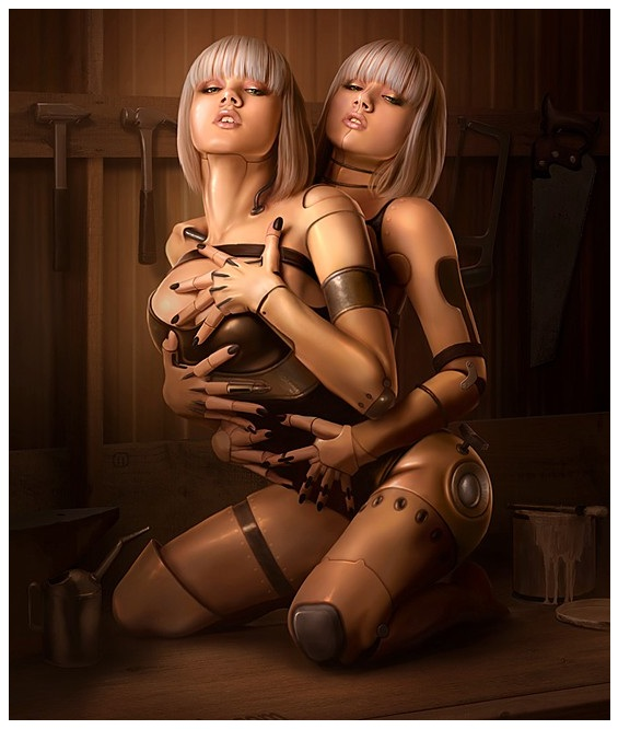 Hot Duo Gynoid Sex Doll Twins