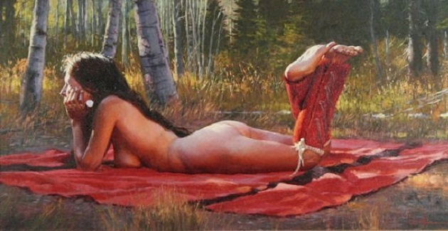 laid out girl nude art