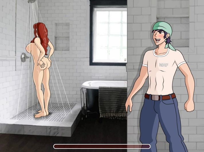 bathroom cartoon sex game