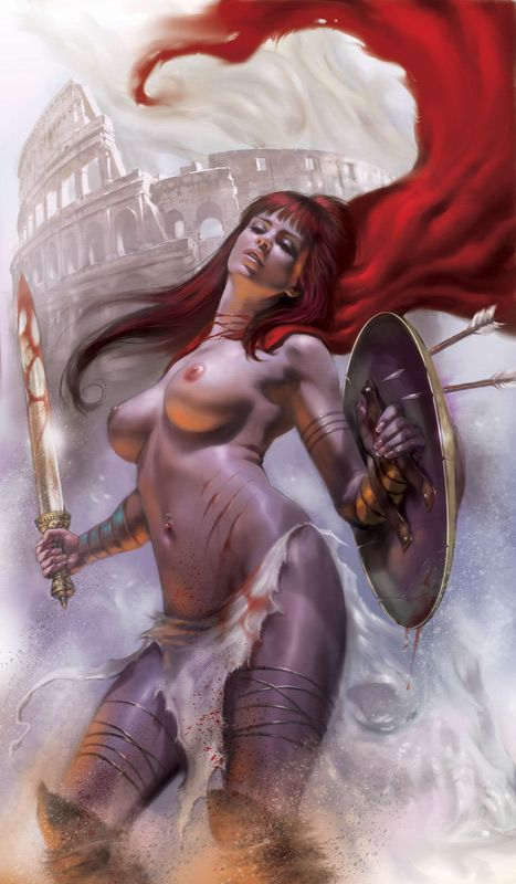 A 300-ish Warrior Spartan Woman Nude by Lucio Parrillo