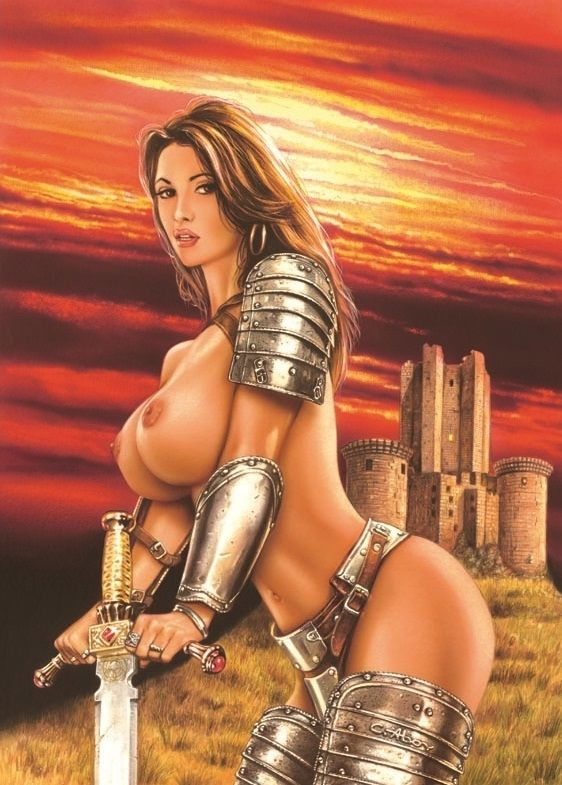 Hot Ass Sword And Sorcery RPG Big Titty Knight Woman